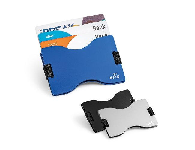 Porta cartões em alumínio com bloqueio de RFID SP93332 (MB1553.0821)