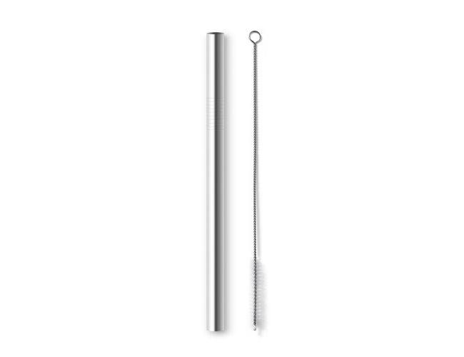 Canudo Em Inox Com Escova De Limpeza SP94095 (MB1209)