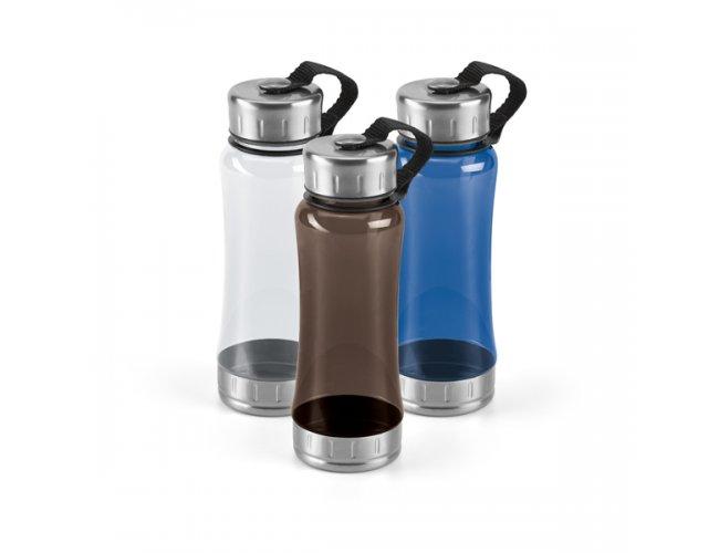 Squeeze Plástico detalhes em Inox 600ml SP94618 (MB11015.0120)
