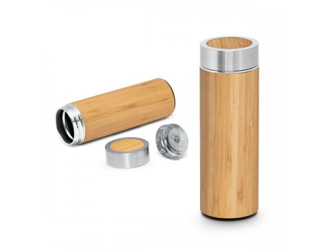 Garrafa Inox Térmica Bambú Com Infusor 430ml SP94683 (MB15244.0421)