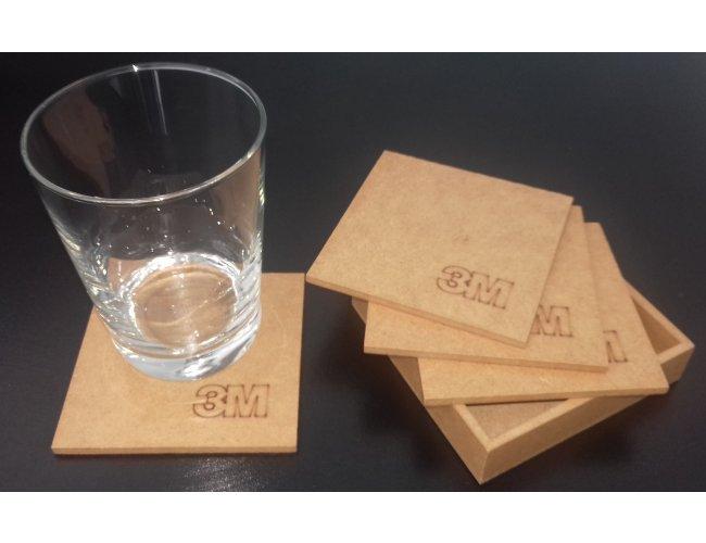 Conjunto base para copos em MDF