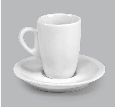 Xícara de Porcelana c/ Pires 70ml BV332