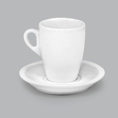 Xícara de Porcelana c/ Pires 100ml BV372