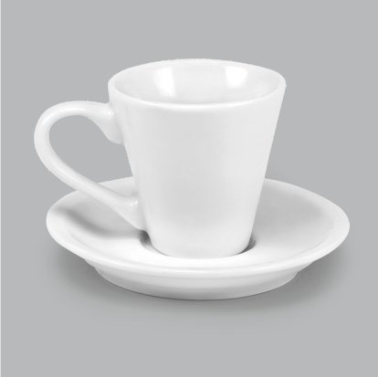 Xícara de Porcelana c/ Pires 75ml BV376 (MB1961.0720)