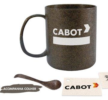 Caneca Com Colher em Fibra de Coco SPC206 (MB1590.0819)