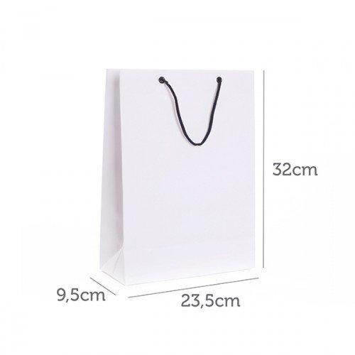 Sacola de Papel Branco 23,5x32x9,5cm CY-SB13 (MB1246.0421)