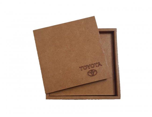 Porta Copo MDF Kit Com 4pçs